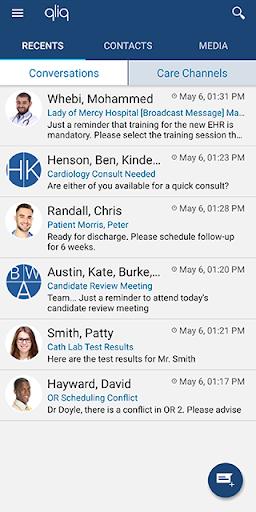qliqconnect: qliq secure texting for healthcare screenshot 1