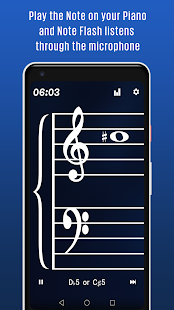 Note Flash -Learn Music Sight Read Piano Flashcard