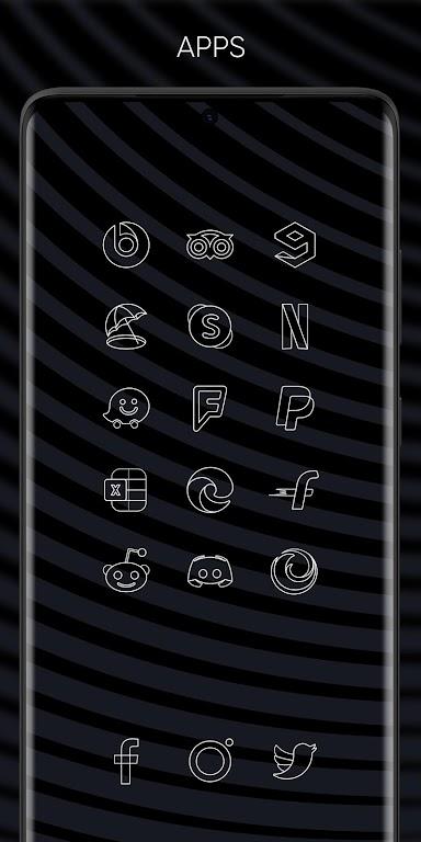 Vera Outline White - White linear icons  poster 2