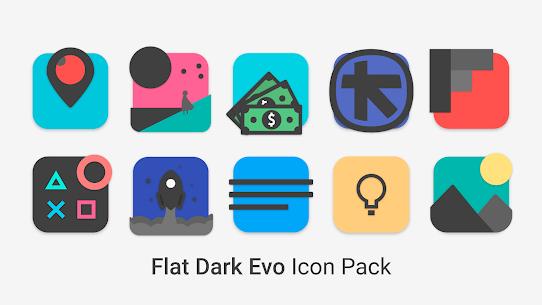 Flat Dark Evo – Icon Pack (MOD, Paid) v4.0 4