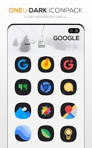 ONE UI DARK Icon Pack : S10 v3.1 [Patched] 3