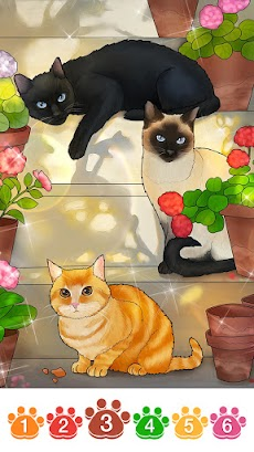 Cat coloring games-Offline paint by numberのおすすめ画像5