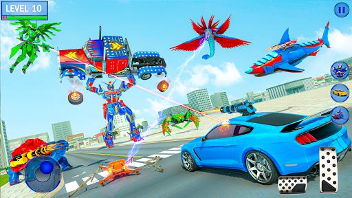 Real Shark Robot Car Game u2013 Police Truck Robot  screenshots 17