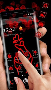 Red Finger heart Love Theme 1.1.9 [Mod + APK] Android 1