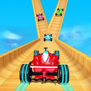 Mega Ramp Formula Car Stunts  New Racing Games