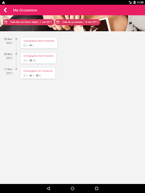 MediFile Android App Screenshot
