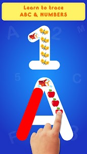 Glitter Number and letters coloring Book for kids Apk 5