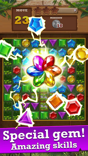 Jungle Gem Blast: Match 3 Jewel Crush Puzzles  screenshots 1