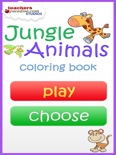 Jungle Animals Coloring Book screenshots 9