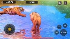 ライオン対トラ野生動物シミュレータゲームのおすすめ画像5