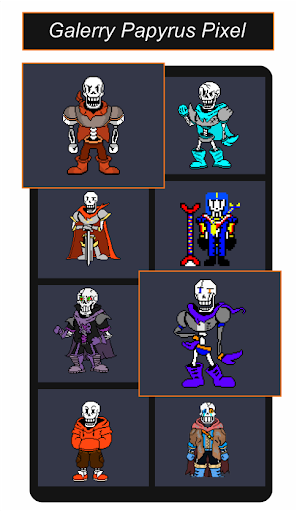 Papyrus Undertale Pixel Art Games Color By Number  screenshots 1