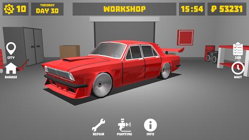 Retro Garage - Car mechanic simulator modavailable screenshots 1
