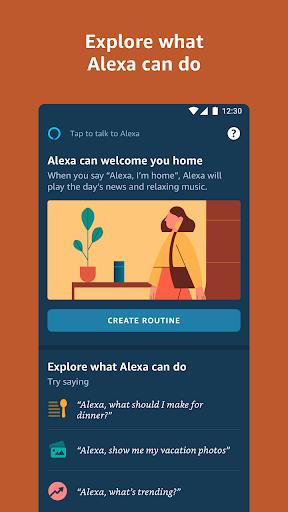 Amazon Alexa app screenshot