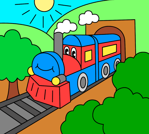 Coloring pages for children : transport 1.1.9 screenshots 8