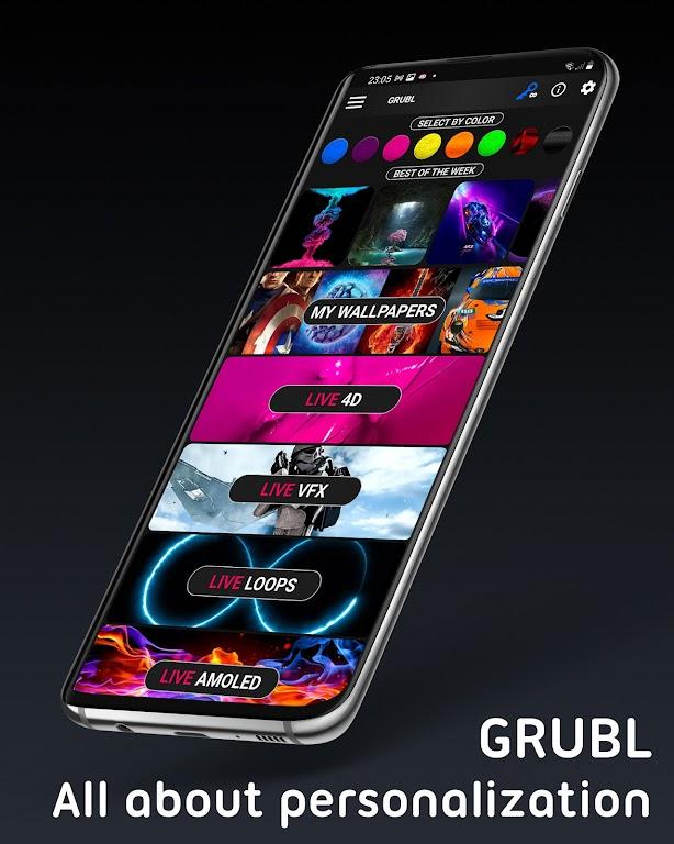 Live Wallpapers 4Κ/HD & Ringtones GRUBL™  poster 7