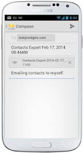 123 Contact Backup Screenshot