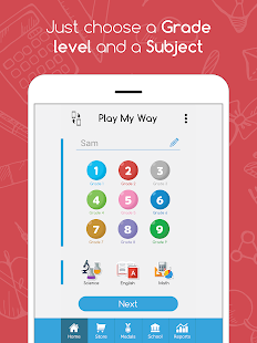 PlayMyWay:Education in games. Math-English-Science