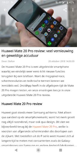 DroidApp - Android nieuws  Screenshots 2