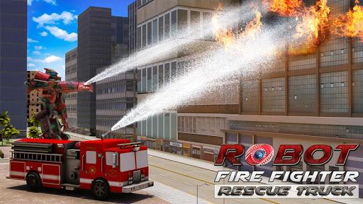 Robot Fire Fighter Rescue Truck  screenshots 1