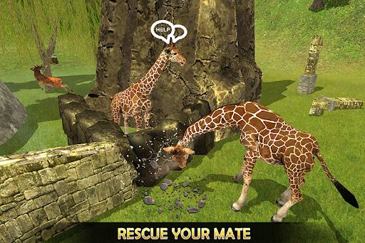 Giraffe Family Life Jungle Simulator apktram screenshots 4
