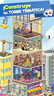 Schermata del solitario a tema Tripeaks Tri Tower PV