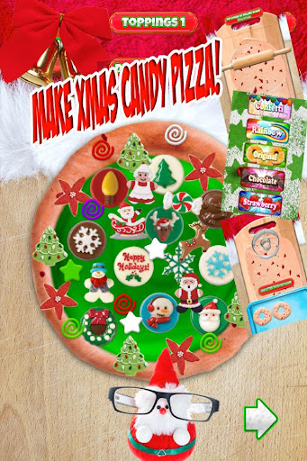 Christmas Candy Pizza Maker Fun Food Cooking Game  screenshots 2