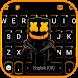 最新版、クールな Cool Black DJ のテーマキーボード