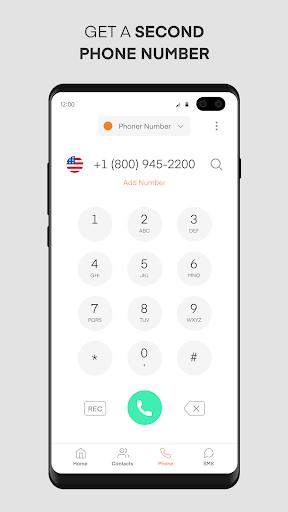 Phoner 2nd Phone Number + Texting & Calling App 4.6 Screenshots 1