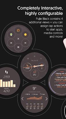 Watch Face Designer - Pujie Black - Wear OSのおすすめ画像5
