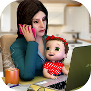Mother's Office Job & Baby Life Simulator
