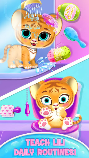 Baby Tiger Care - My Cute Virtual Pet Friend modavailable screenshots 2