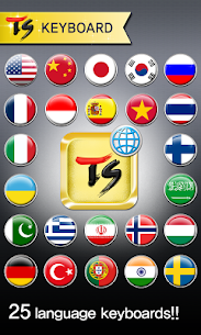 TS Keyboard [25 Languages] 1.6.7 Latest MOD Updated 1