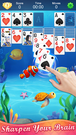 Solitaire Fish - Classic Klondike Card Game android2mod screenshots 3