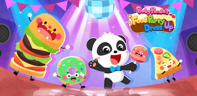 baby panda's food party dress up hack
