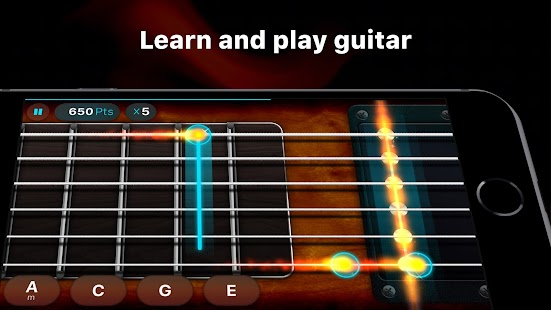Guitar - play music games, pro tabs and chords! Screenshot