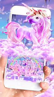 Colorful Rainbow Unicorn Keyboard Theme