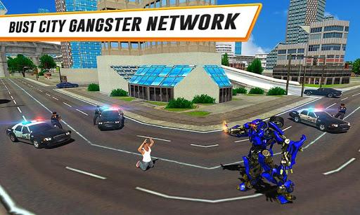 US Police Car Real Robot Transform: Robot Car Game 169 Screenshots 2