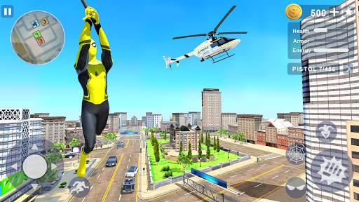 Flying Spider Rope Hero - Gangster Crime City screenshots 1