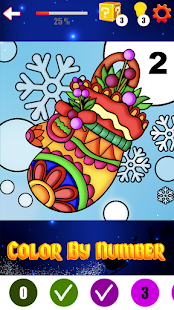 Coloring Book Christmas Color By Number Paint Game