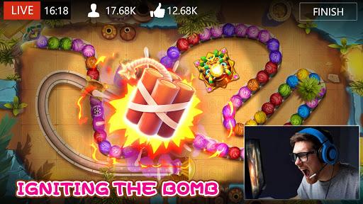 Marble Dash: Epic Bubble Shooter Legend Game 2021 modiapk screenshots 1