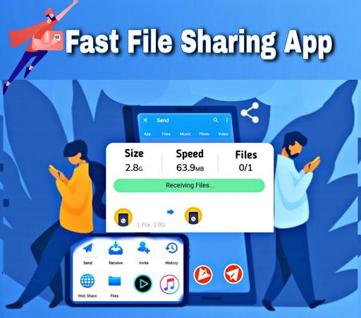 Fast File Transfer And Sharing Music & Videos App apktram screenshots 1
