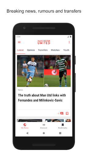 manchester united news screenshot 1
