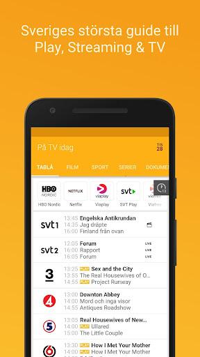 tv.nu - guide till tv och streaming screenshot 1