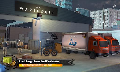 Supermarket Cargo Transport Truck Driving Sim 2019  screenshots 3