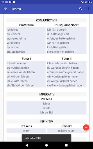 Deutsche Verben screenshots 13