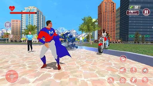Super-Hero Flying Simulator 3D modiapk screenshots 1