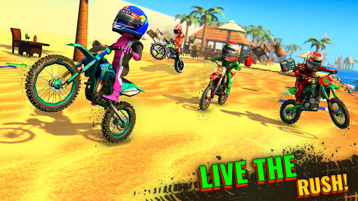 Beach Bike Stunts Game: Crazy Bike Stunts on Ramps apkmr screenshots 3