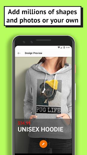 T-shirt design - OShirt android2mod screenshots 2