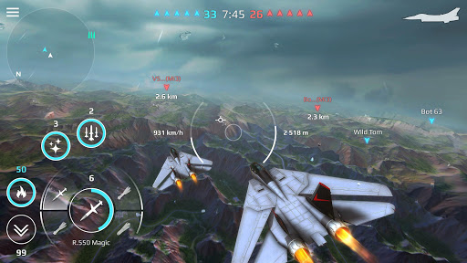 Sky Combat: war planes online simulator PVP 4.1 screenshots 4