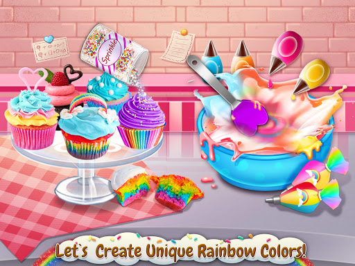 rainbow desserts bakery party screenshot 3